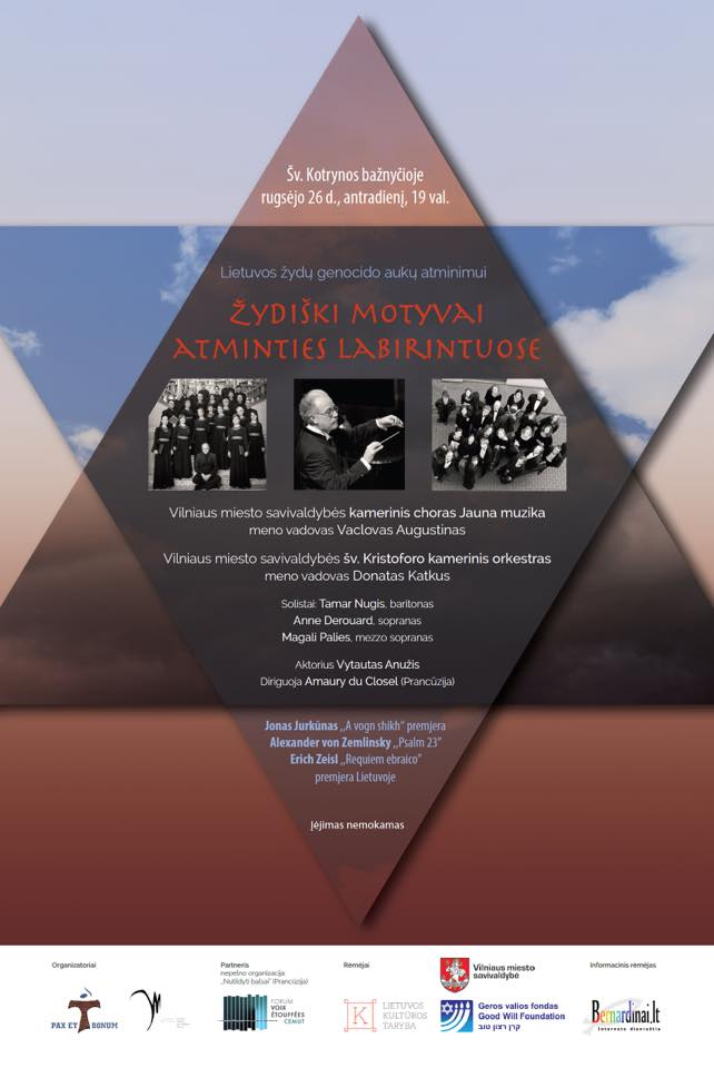 Concert In Memory Of The Genocide Of Lithuanian Jews